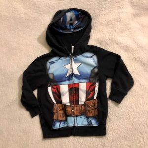 Captain America Zip Up Hooded Sweatshirt